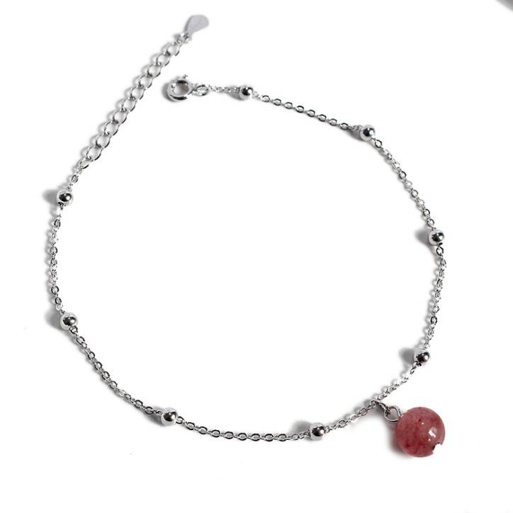 quartz anklet for women
