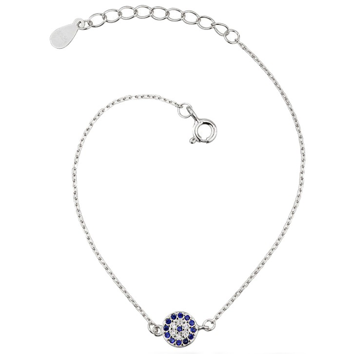 925 silver charm anklet for women