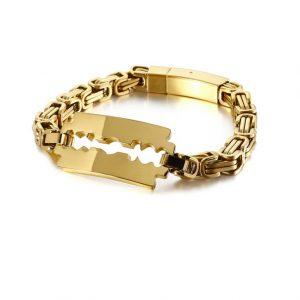 blade charm mens bracelet