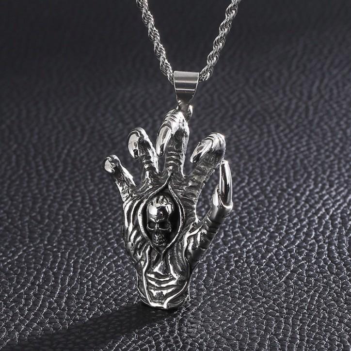 skull hand pendant for men