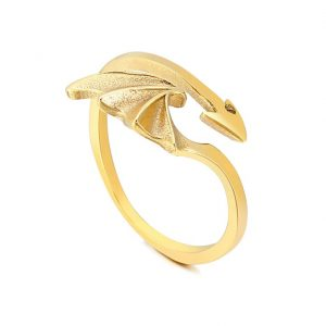 bat wing shaped ring for men