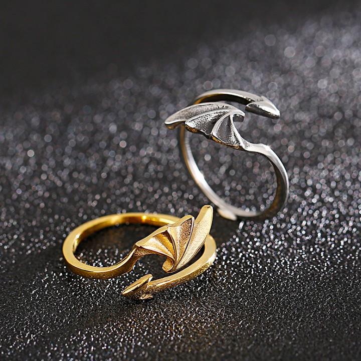 bat wing shaped ring for men