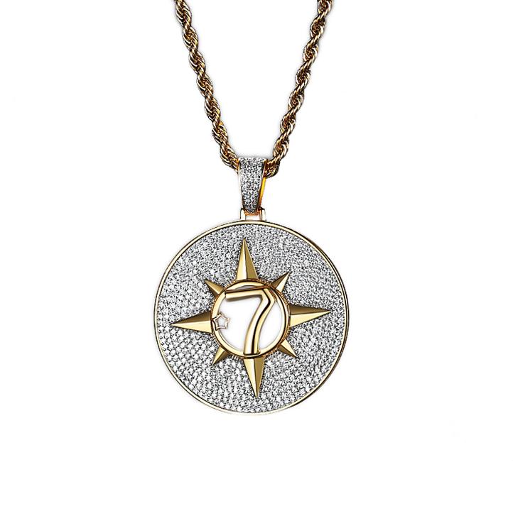 hip hop style cz compass pendant necklace wholesales