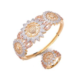 diamonds sunflower jewelry bangle rings wholesaler from china