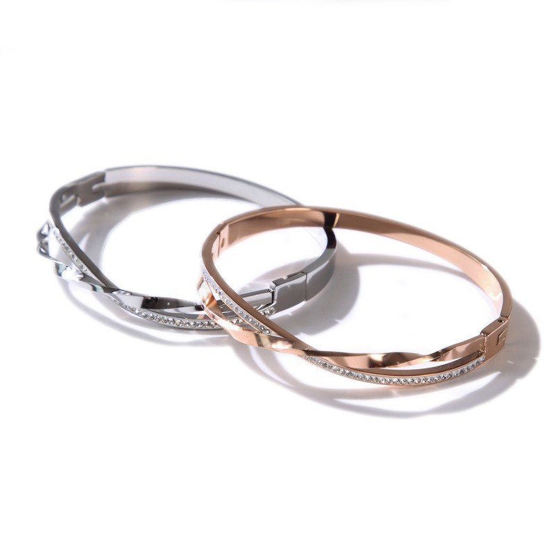 stainless steel jewelry hinged bracelet wholesale