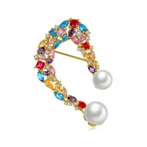crystal jewelry pearl brooch pins from china factory