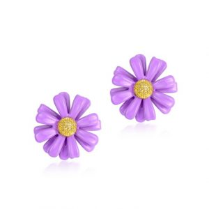925 silver flower earrings wholesales from China jewelry manufacturer