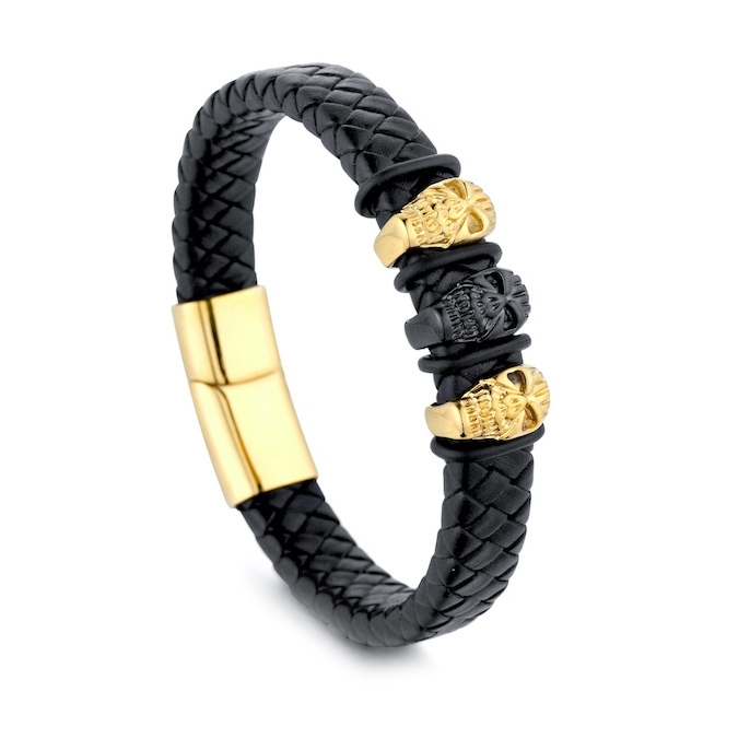 mens genuine leathers bracelet wholesales from China jewelry factory