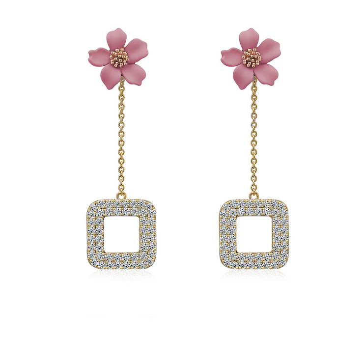 cubic zirconia earrings wholesales from China jewelry factory
