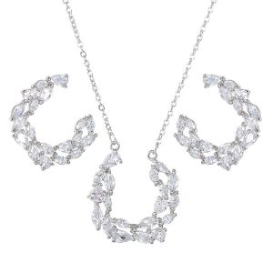 diamonds necklace earrings set wholesales from china jewelry factory