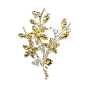 cz jewelry diamonds brooch wholesales from China factory