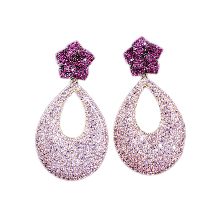 crystal diamonds earrings wholesales fro China luxury jewelry factory