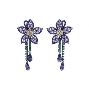 crystal earrings wholesales from China jewelry factory
