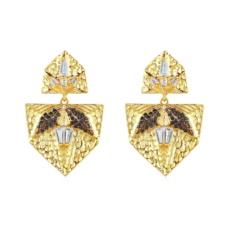 diamond earrings wholesales from China zircon jewelry factory