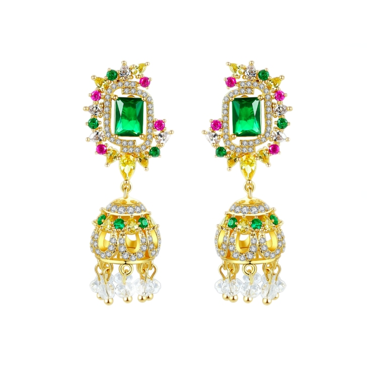 crystal earrings wholesale from China cz jewelry factory