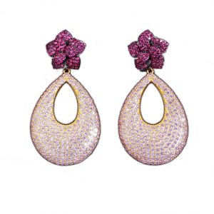 crystal earrings wholesales from China brass jewelry factory