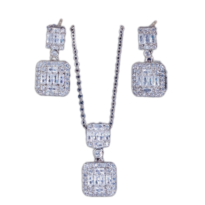 crystal necklace earrings set wholesales from CHINA JEWELRY FACTORY