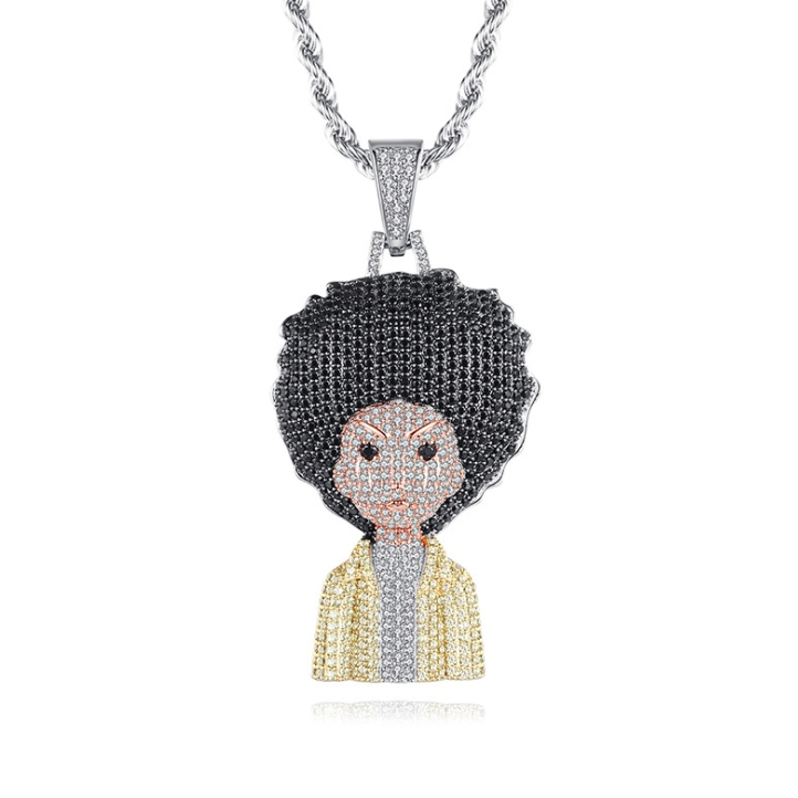 crystal hiphop necklace wholesale from China cz jewelry factory
