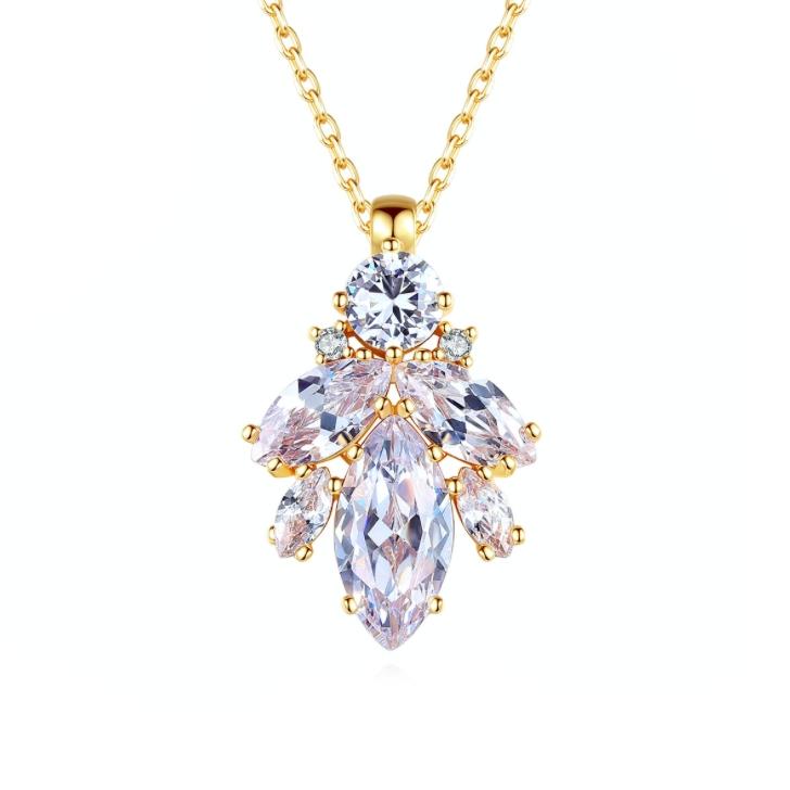 diamond necklace wholesales from China zircon jewelry factory