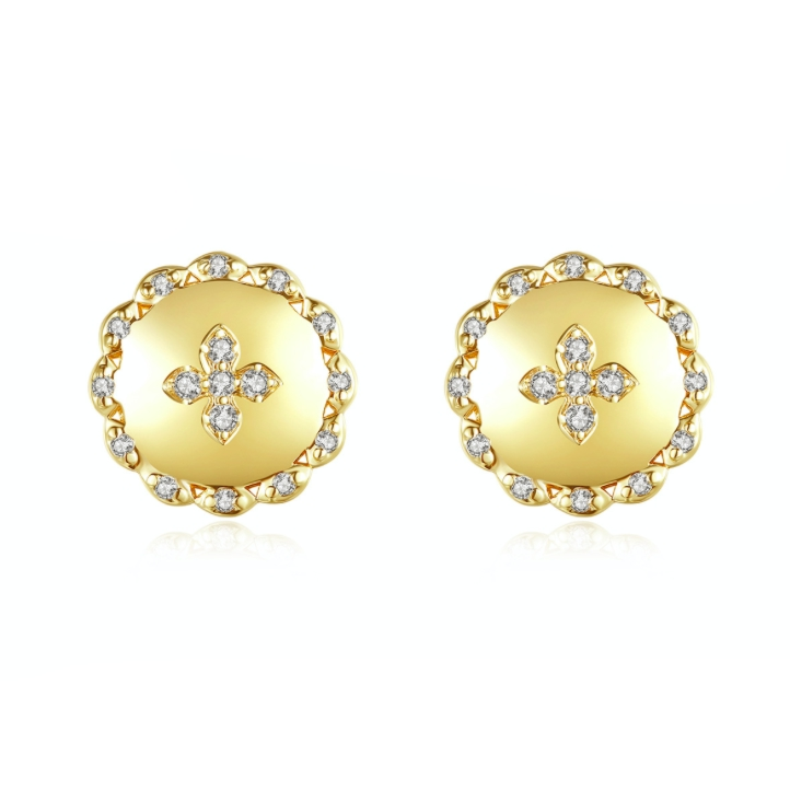 diamond earrings wholesales from China crystal jewelry factory