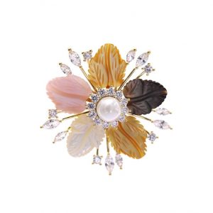 cubic zirconia Brooch pins wholesales from CHINA CRYSTAL JEWELRY FACTORY
