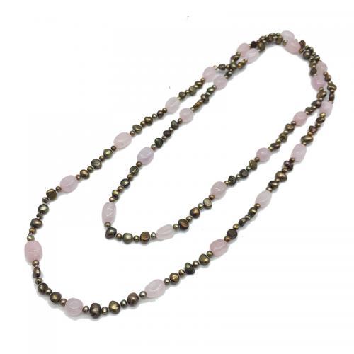 quartz pearl necklace